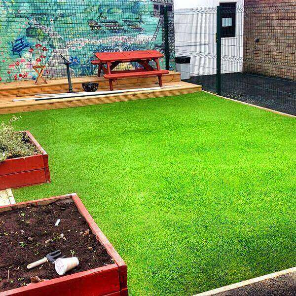 natural-looking synthetic grass or turf