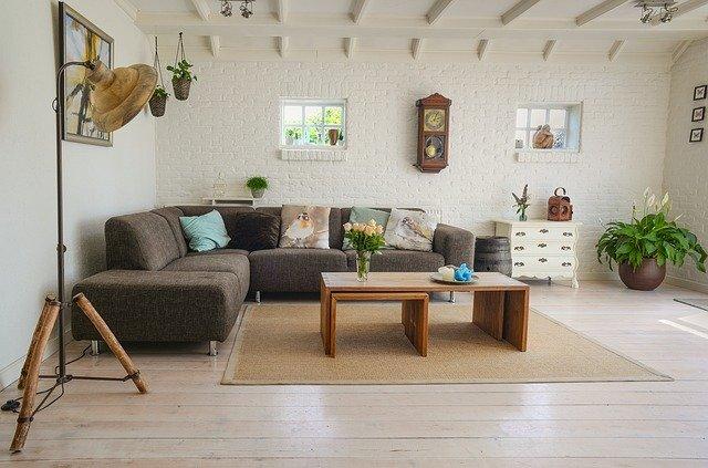 Beige hardwood floor