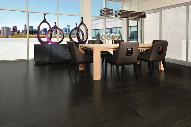 True black flooring