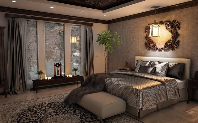 lighted bedroom