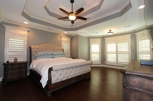 airy and open bedroom