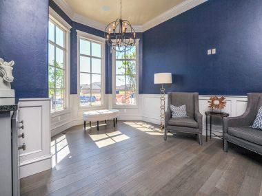 blue dwelling room