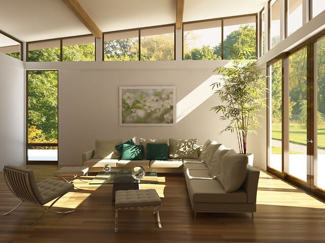 Living room with natural light