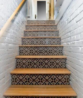 Artistic Mosaic Staircase