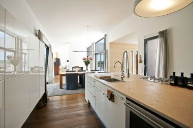 symmetrical galley kitchen