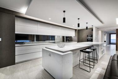Galley kitchen island