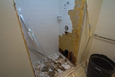 Bathroom gutting