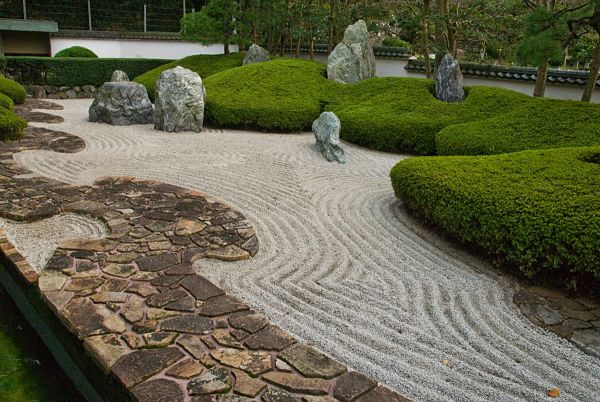 pea gravel walkway