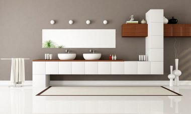 floating customized cabinets