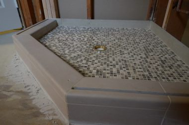 Ceramic bathroom floor