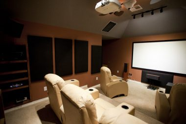 home theater angular arrangement