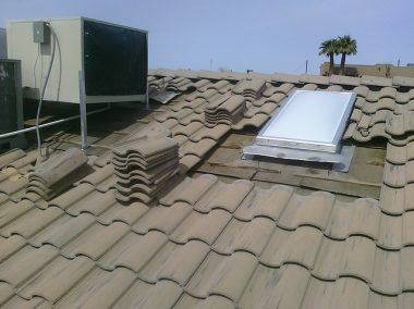 Roof replacement work