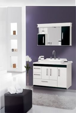 Surface mount bathroom cabinet