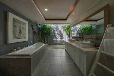 Spa-like bathroom