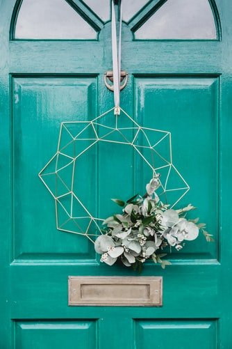 geometric summer wreath