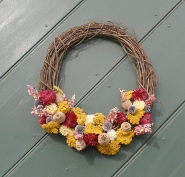 grapevine summer wreath