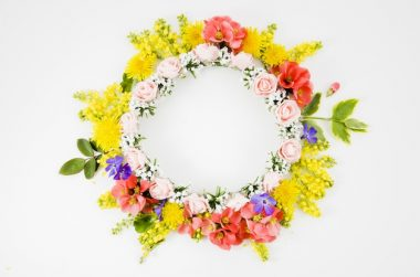 colorful summer wreath