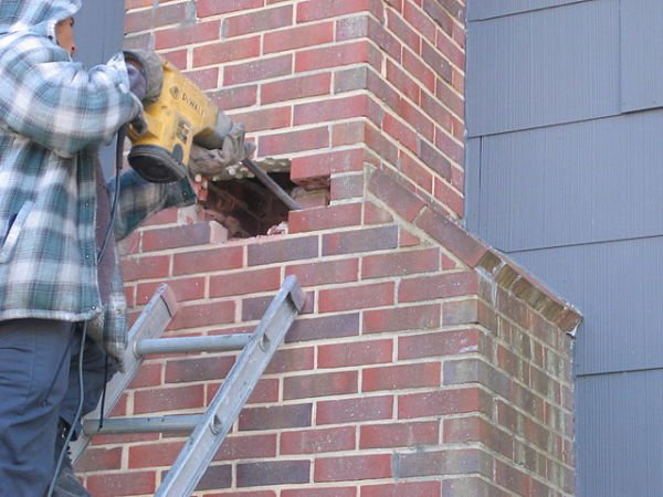 partial chimney removal