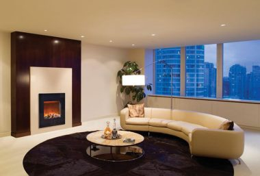 Space saving fireplace