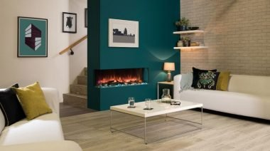 Efficient electric fireplace