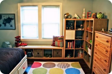 Children's room storage
