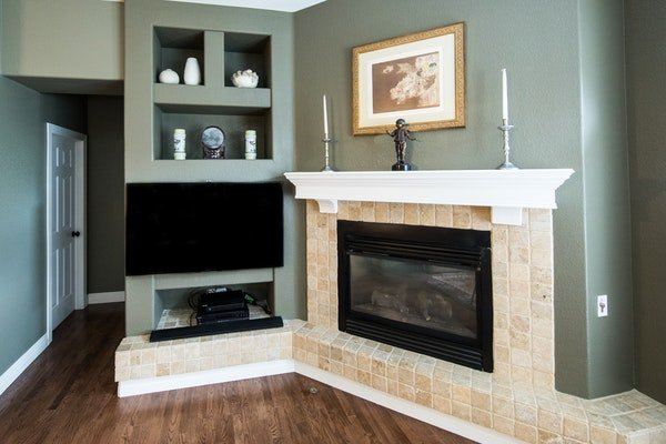 Elegant fireplace