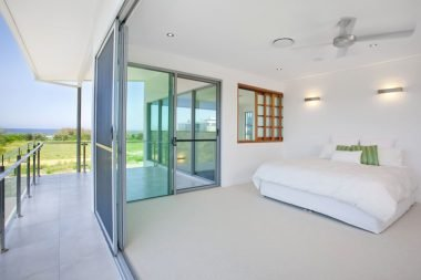 Glass bedroom door