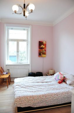 light pink bedroom