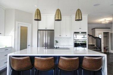 Quartz kitchen countertop