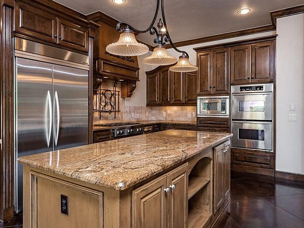 Camel colored countertop