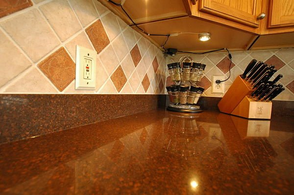 Colorful countertop