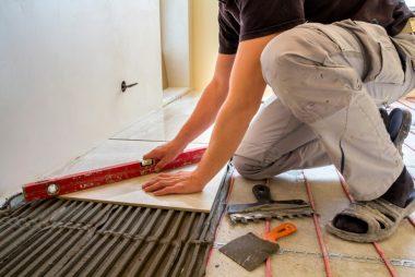 Bathroom floor heating