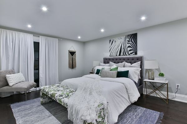 general master bedroom lighting