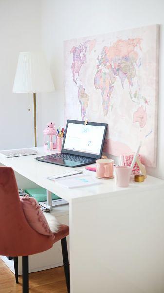 student desk setup