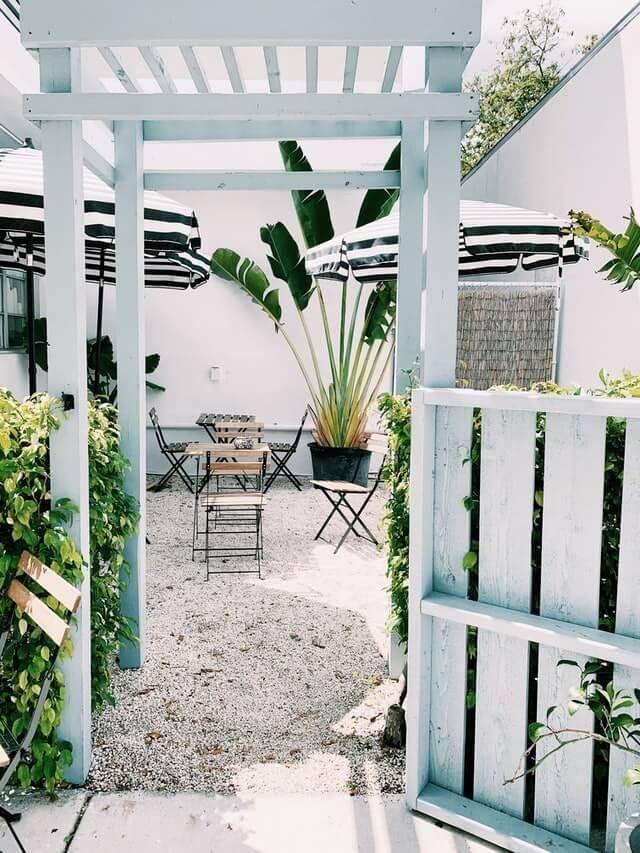 Courtyard plant decor