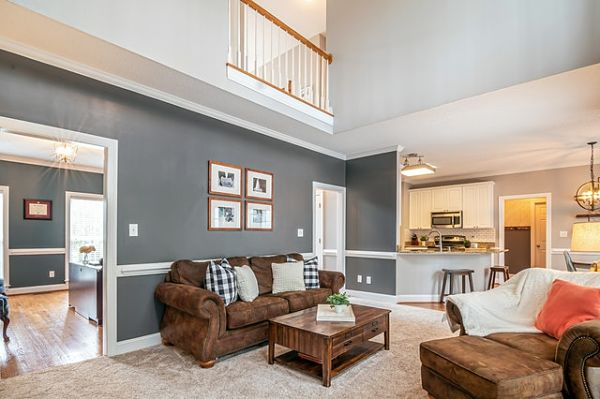 accent wall living room