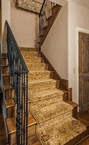 carpeted stair runner