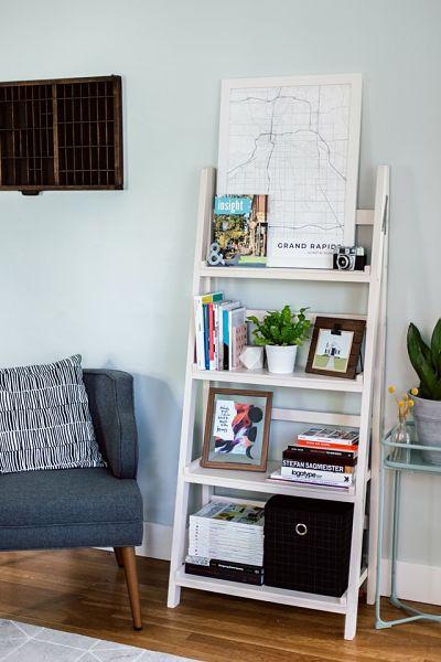 open shelving apartment