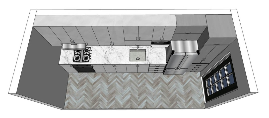 Linear kitchen design