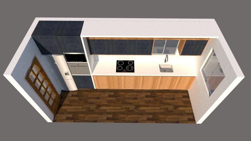 3d kitchen render design