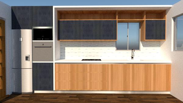 3d kitchen layout 2