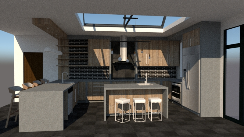 Layout for U shaped kitchens
