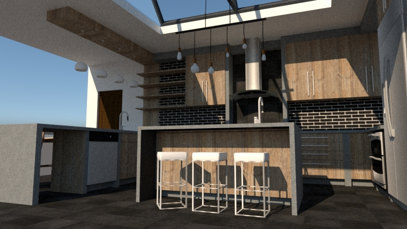 3d design for kitchen