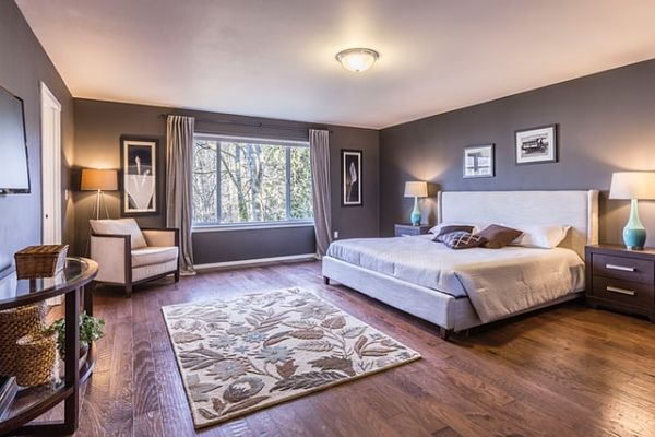 where to put rug in bedroom