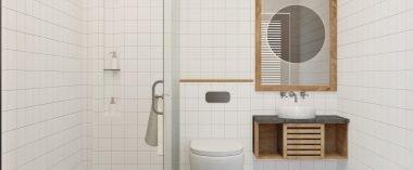 3/4 bathroom floor plans
