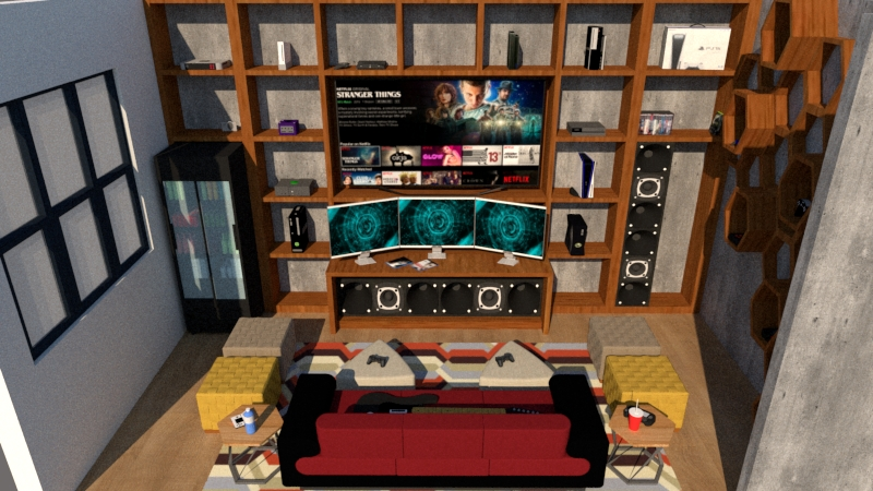 Game room 3d view