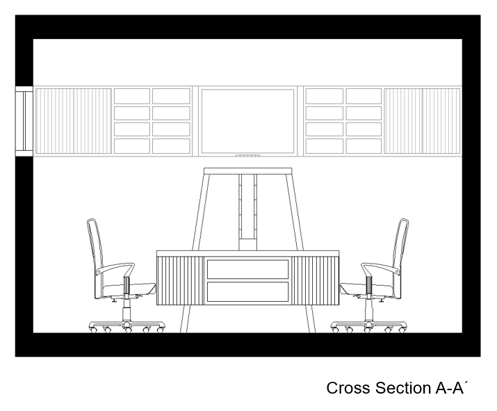 Gaming room cross section