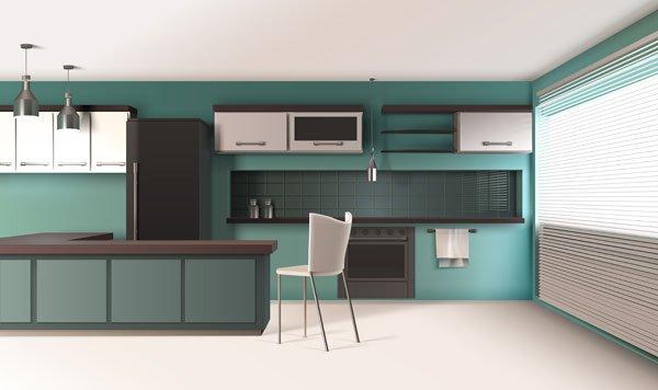 hued kitchens