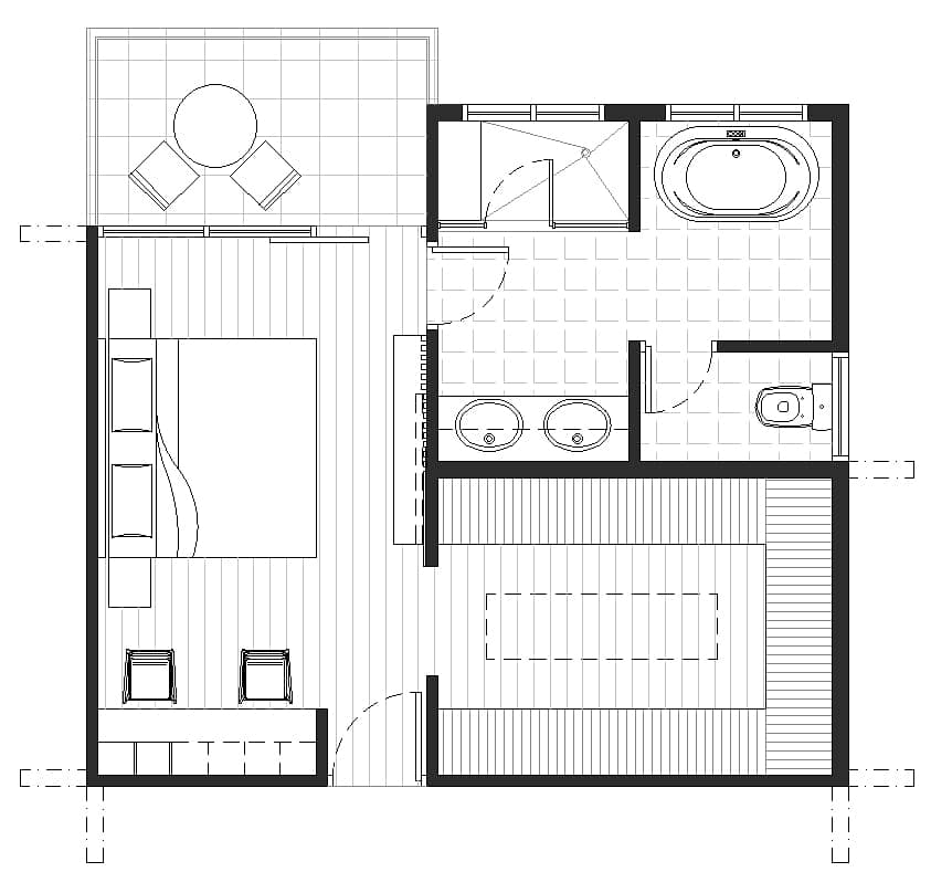 Master bedroom with office