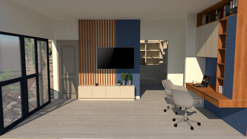 Home office and terrace